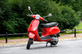 One Red Scooter Royalty Free Stock Photo