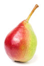 One Red-yellow Pear  On White ...
