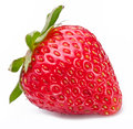 One rich strawberry fruit white. Royalty Free Stock Photo