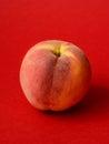 One ripe peach Royalty Free Stock Photo
