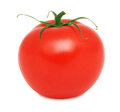 One ripe tomato (isolated) Royalty Free Stock Photo
