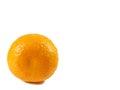 One ripe vibrant color orange isolated on white background Royalty Free Stock Photo