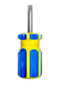 One screwdriver colorful over white background Royalty Free Stock Photo
