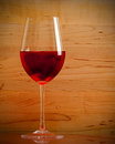 One single wine glass Royalty Free Stock Photo