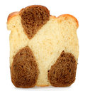 One slice of bread made ​​from rye and wheat Stock Image