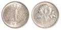 one south korean won coin Royalty Free Stock Photo