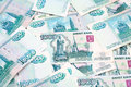 One thousand ruble notes close up of russian banknotes Stock Photo
