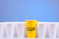 One to rule them all yellow cup which leads Royalty Free Stock Photography