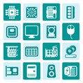 One tone Computer  Performance and Equipment Icons Royalty Free Stock Photo