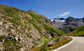 One turns high mountain pass gavia dolomite alps italy Stock Images
