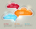 One two free  -  cloud options Royalty Free Stock Image