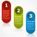 One two three options banners vector Royalty Free Stock Image