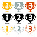 One Two Three - Price Cups - Icons Set Royalty Free Stock Photo