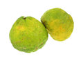 One uniq fruit standing other leaning side Stock Images
