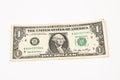 One US  dollar Royalty Free Stock Photo