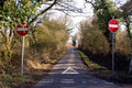 One way country road Royalty Free Stock Photo