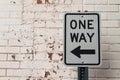 One Way Grunge Brick Painted P...