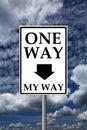 One way my way