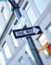 A one way sign Royalty Free Stock Photo