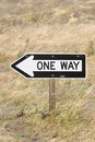 One way sign Stock Photos