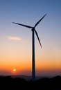 One wind turbine Stock Photos