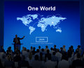One World Peace Connection Relationship Interconnection Concept Royalty Free Stock Photo
