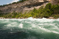 One wrong step and you are gone violent rapids of the niagara river Royalty Free Stock Photo