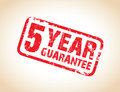 A one year guarantee stamp Stock Photography