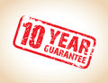 A one year guarantee stamp Stock Photos