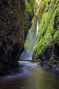 Oneonta falls in columbia river gorge oregon Royalty Free Stock Photo