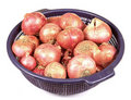 Onion in basket Royalty Free Stock Photography
