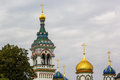 Onion domes and bell tower old believers community monastery moscow atop a cathedral at the at rogozhskoye in russia Stock Photos