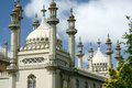 Onion domes towers and minarets forming the roof of the royal pavilion palace in brighton england king george iv s summer house Royalty Free Stock Image
