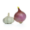 Onion and garlic Royalty Free Stock Photo
