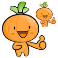 Onion mascot the right hand best gesture vegetable character de design series Stock Photo