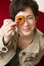 Onion Ring Eye Stock Image