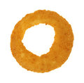 Onion Ring Single on White Royalty Free Stock Photo