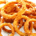 Onion rings in closeup Stock Image
