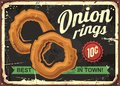 Onion rings retro restaurant sign Royalty Free Stock Photo