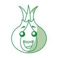 Onion vegetable kawaii character