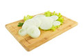 Onion vegetable slices on white Stock Photo