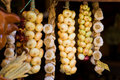 Onions in a shop Stock Photography