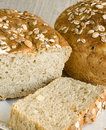 Oniony bread strewed with seeds Royalty Free Stock Photography