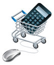 Online accounting concept Royalty Free Stock Photo