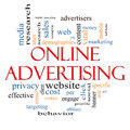 Online Advertising Word Cloud Concept Royalty Free Stock Images