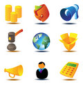 Online auction icons Royalty Free Stock Image