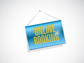 online booking hanging banner illustration