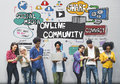 Online Community Social Networking Society Togetherness Concept Royalty Free Stock Photo