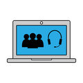 Online conversation icon. Vector illustration
