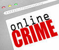 Online Crime - Web Screen and Text Stock Image